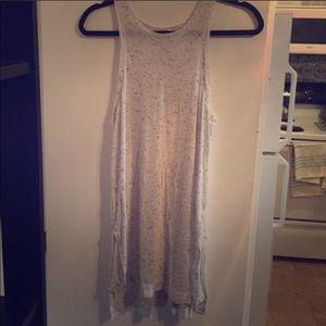 Extra long tank or sleeveless cotton dress